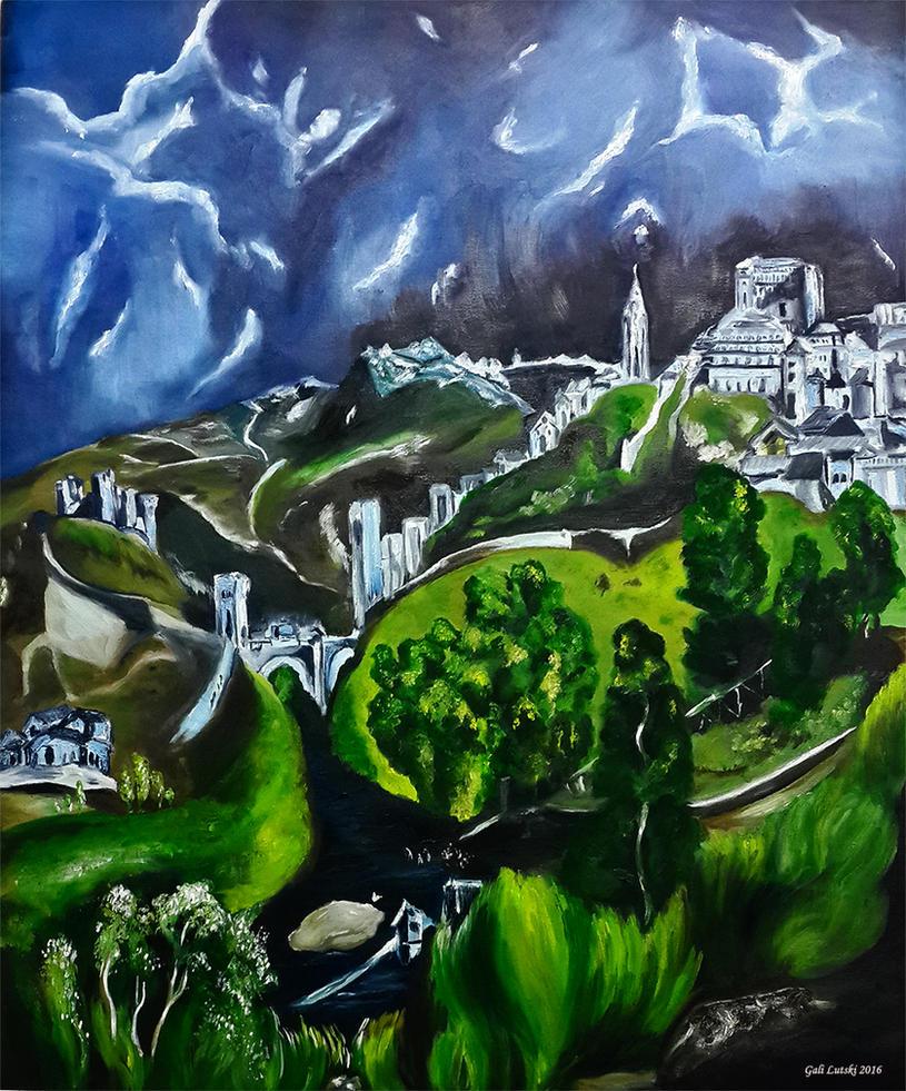 El Greco Tribute - The View of Toledo by Olvium