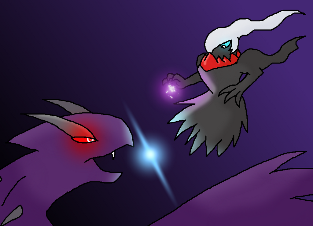 Lugia Vs Shadow Lugia The Movie darkrai vs shadow lugi...