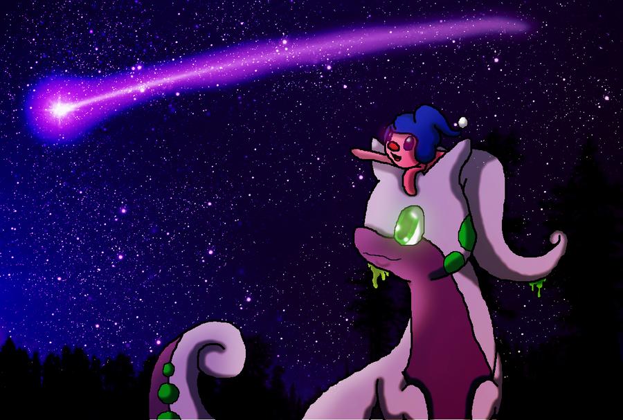 Goodra And Mime Jr by ShadowxJamie