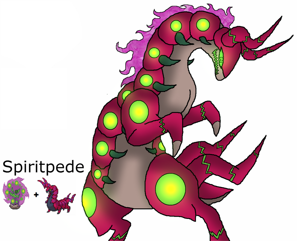 pokemon fusion Spiritpede by ShadowxJamie
