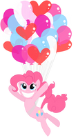 Pinkie Pie Balloons Vector by Hollulu
