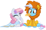 Commission - Virgo and Leo