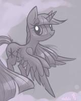 Twilight Sparkle Warmup by Hollulu