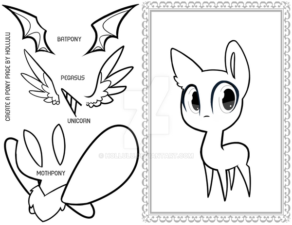 Create A Pony Coloring Page By Hollulu On Deviantart Create A Coloring Page