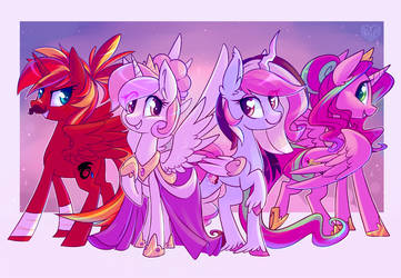 Commission - Alicorn Princesses by Hollulu