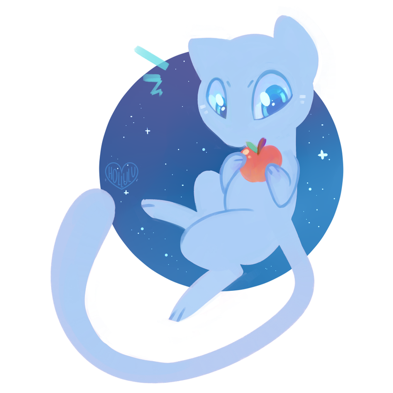 Shiny Mew by Hollulu on DeviantArt