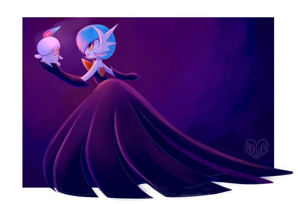 Shiny Mega Gardevoir Wallpaper: Litwick And Shiny Mega Gardevoir By Hollulu On DeviantArt