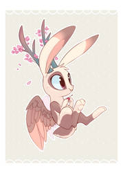 Cherry Blossom Wolpertinger by Hollulu