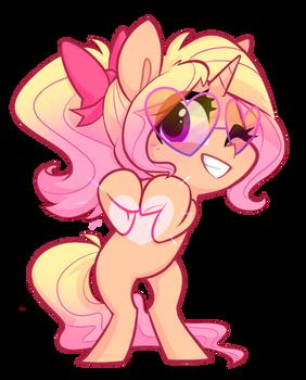 Filly Starstruck Pink Sunglasses