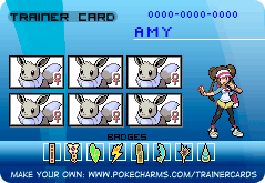 Trainer Card! Shiny Female Eevee Team! by AmyEmolga