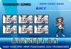 Trainer Card! Shiny Female Eevee Team! by AmyEmolga