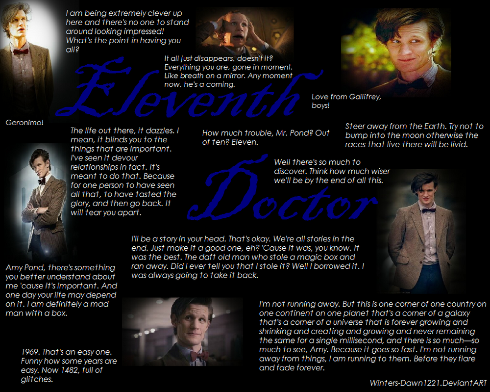 Doctor Who Quotes About Love Eleventh Doctor A Picture Worth A Dozen Quoteswinters