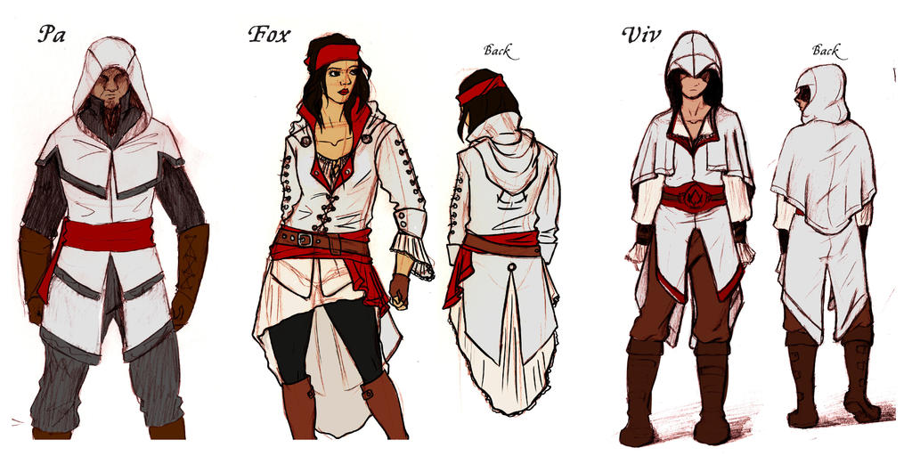 OC Assassin's Creed Concept Art for Cosplay by CaiFox