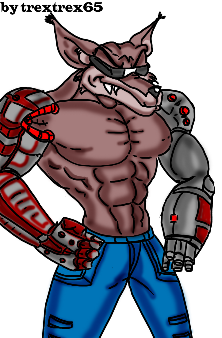 fang from Contra  toon mode by trextrex65