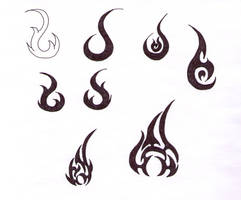 Flame Tattoo Designs by blackironheart