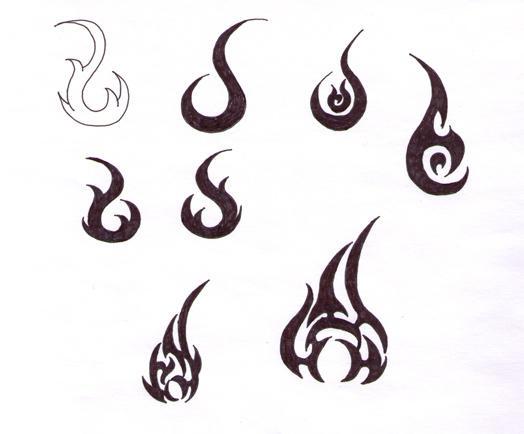 flame tattoo designs by blackironheart on deviantart. Black Bedroom Furniture Sets. Home Design Ideas