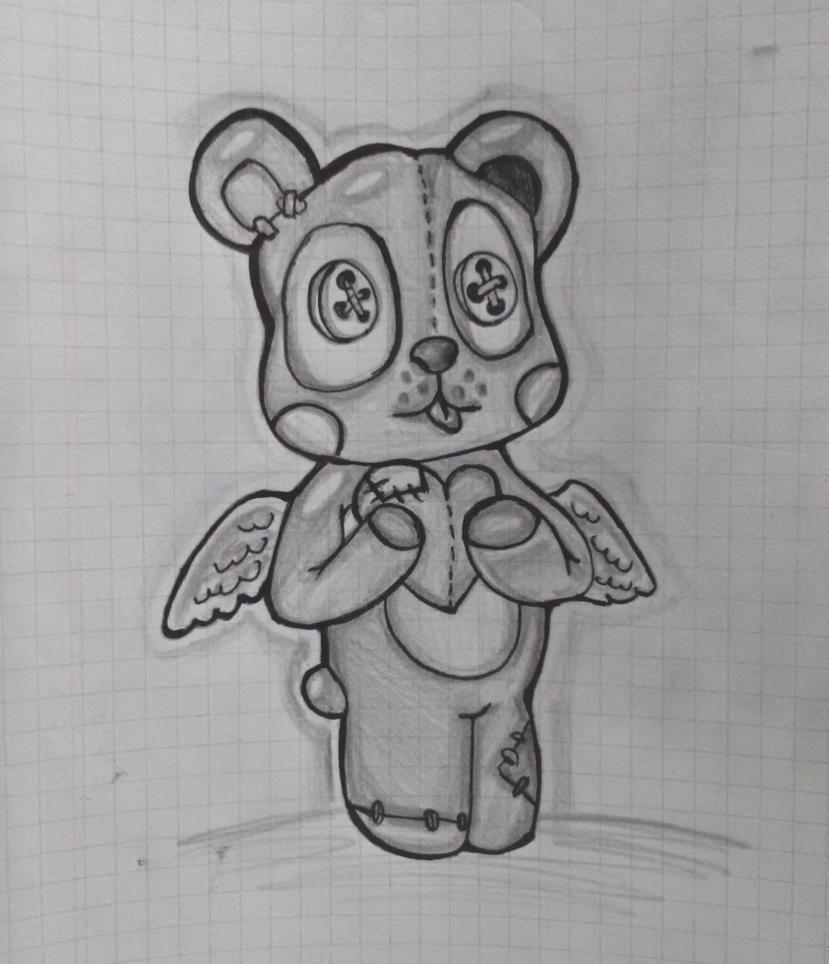 Teddy bear - New School Tattoo Design by BlackNekoBit on ...