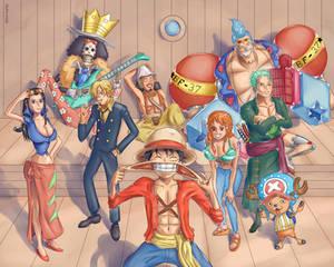 One Piece Watercolor