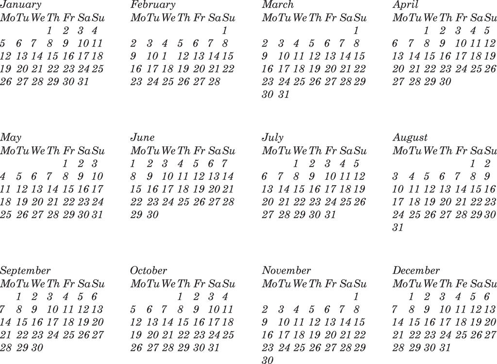 Calendar - ThingLink