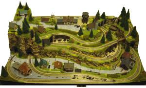 N-gauge layout - The Rabbit Warren 01