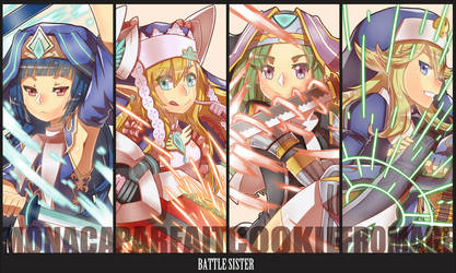 battle sisters by frank-einstein