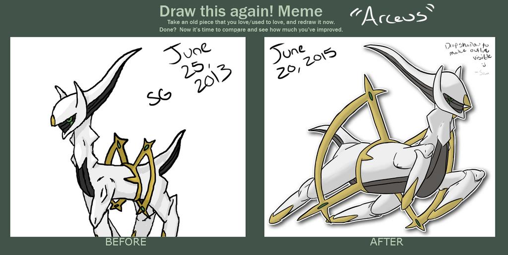 Draw This Again: Arceus by DentistChicken