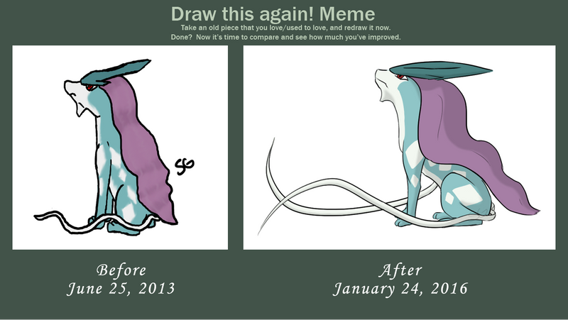 Draw This Again: Suicune by DentistChicken