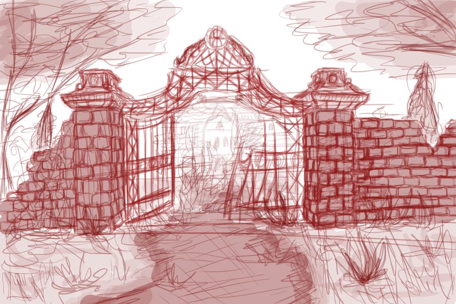 Speed Paint | Gate Sketch by DentistChicken