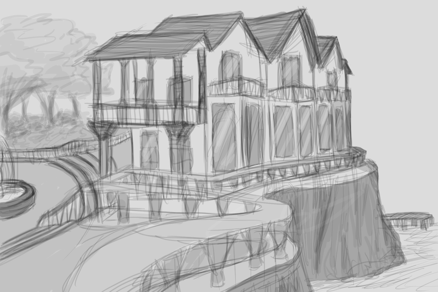 Another Building (Sketch 2) by DentistChicken