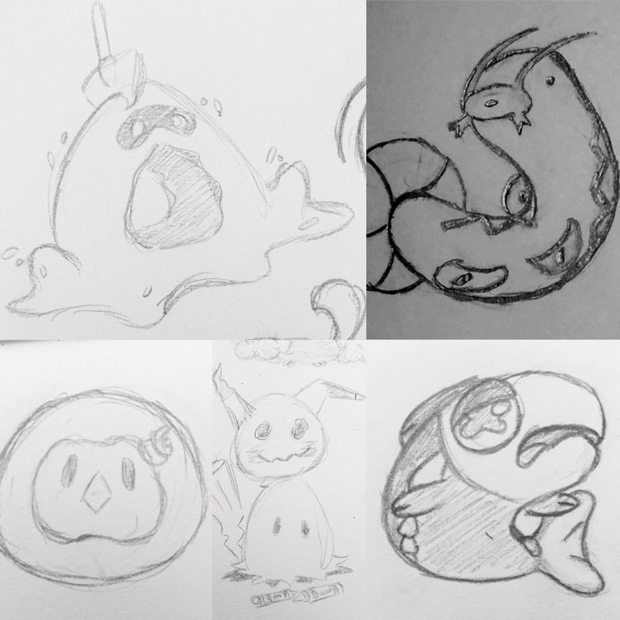 Pokemon Doodle Batch by DentistChicken