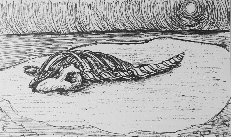 OSAC | Bones of Leviathan Pen Sketch by DentistChicken