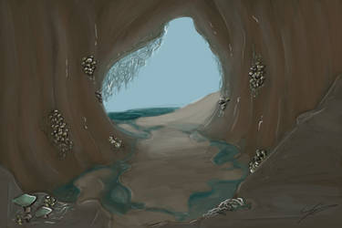 Fungus-Laden Cave (w/o Character Version) by DentistChicken