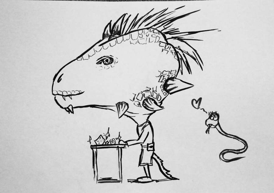 Skyrim Caricatures - Madesi by Gossepojk