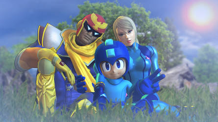 Falcon, Samus and Megaman by Gmoder3000