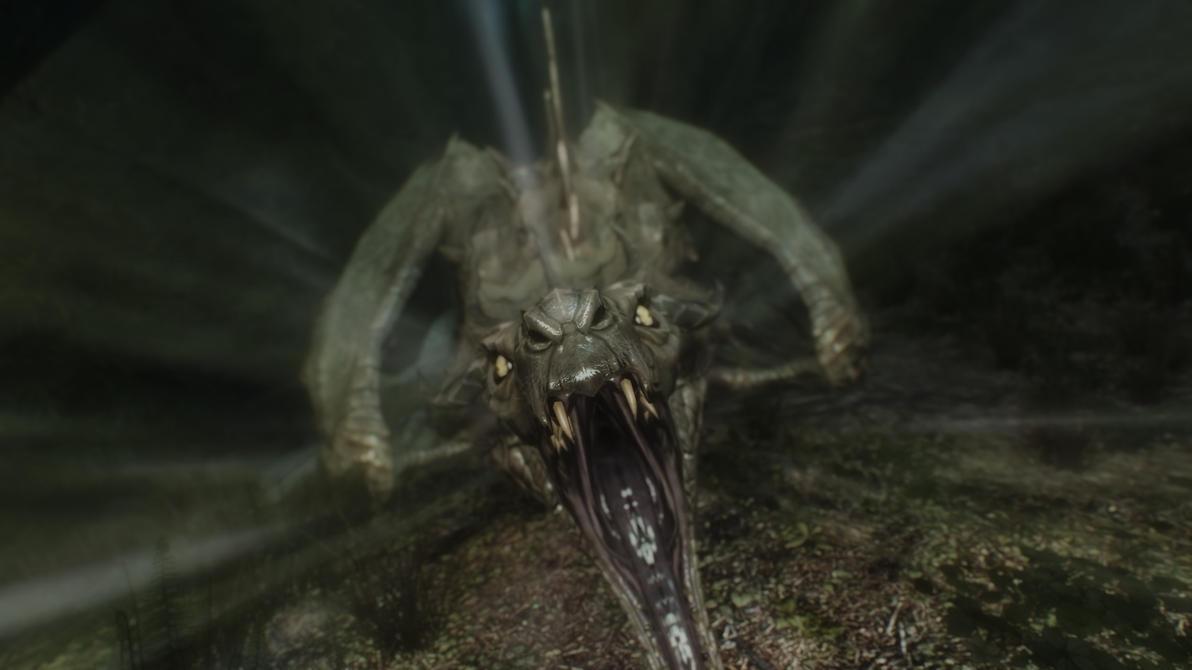 Skyrim: NPC Dragon by haunted-passion