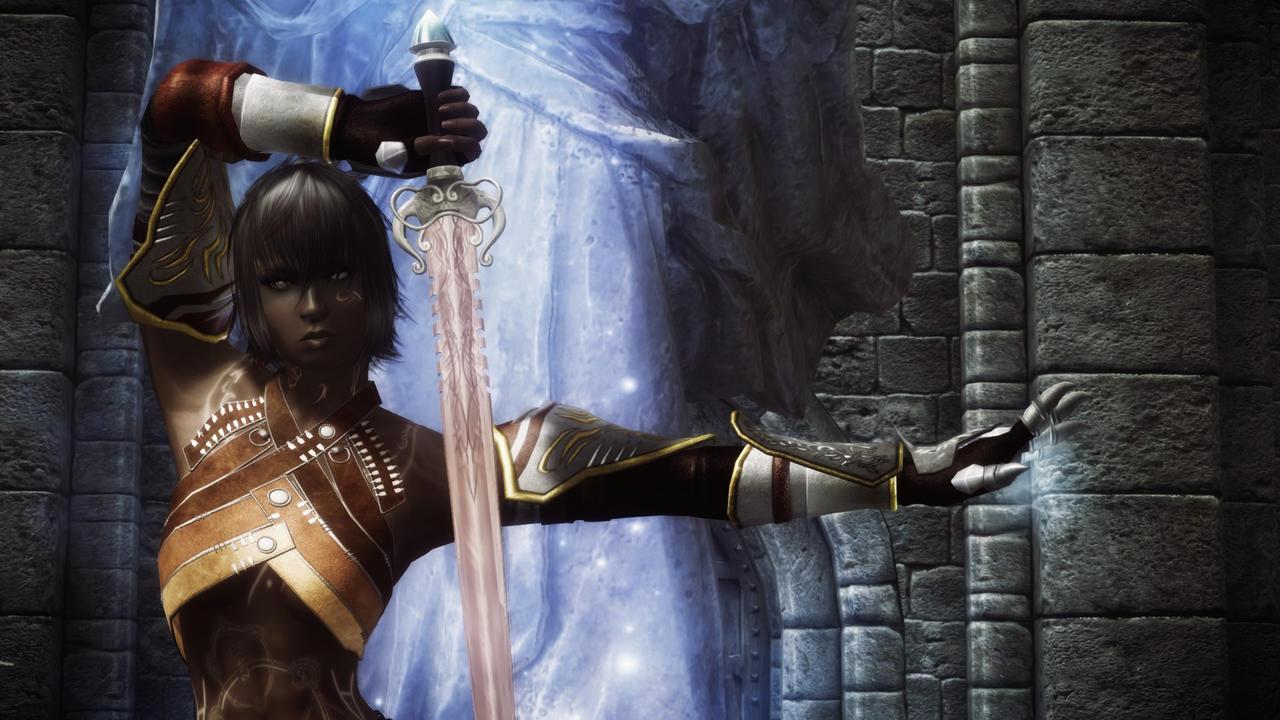 skyrim spellsword armor