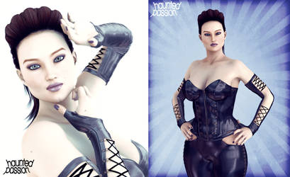 Diana in Leather by haunted-passion