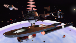 U.S.S. Tandroy, Space station construction.