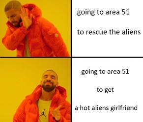 Drake meme area 51