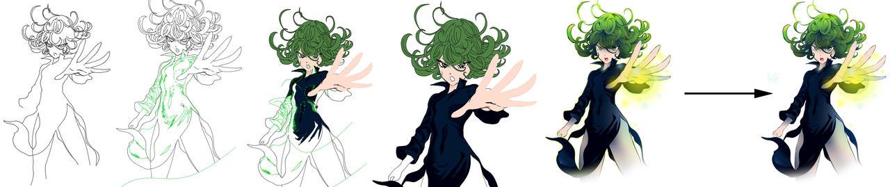 One Punch Man - Tatsumaki (Process strip)