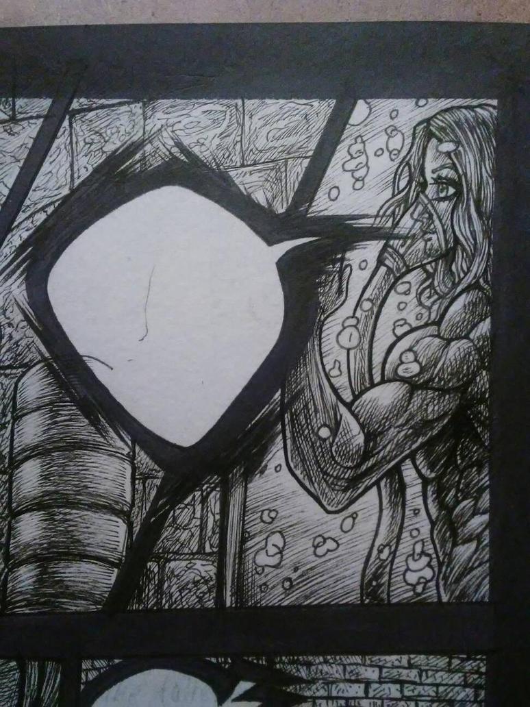 FIRESHINE             inked panel by ROMANEBLACK