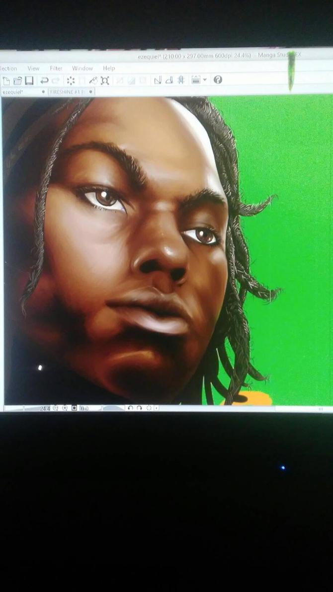 album cover painting by ROMANEBLACK