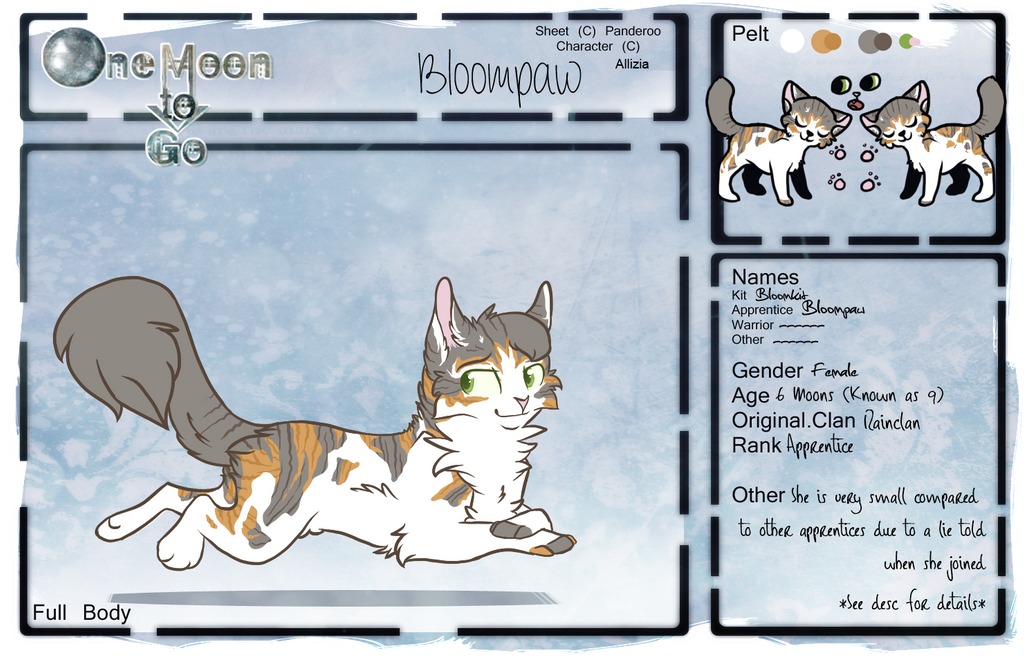 -OMtG- Bloompaw Application by Allizia