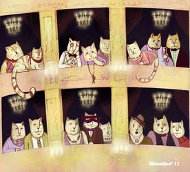 Cats come to the theatre by Rinulina