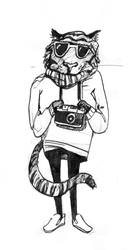 Tiger hipster by Rinulina
