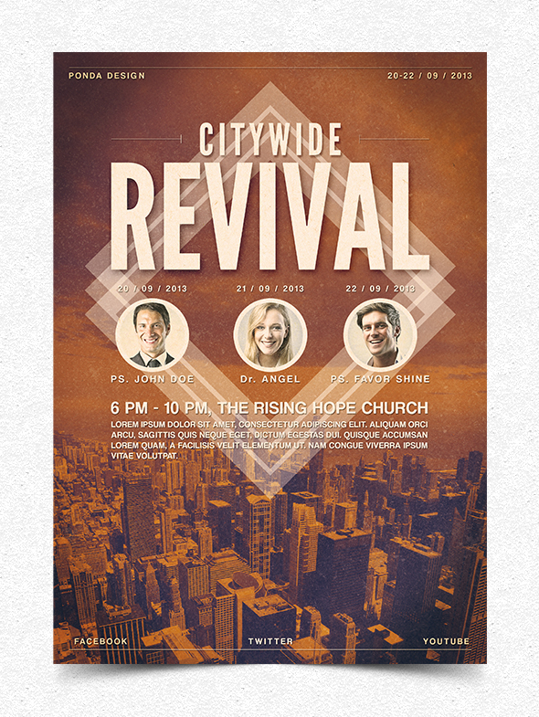 Citywide Revival Flyerposter Template By Junaedy Ponda On Deviantart