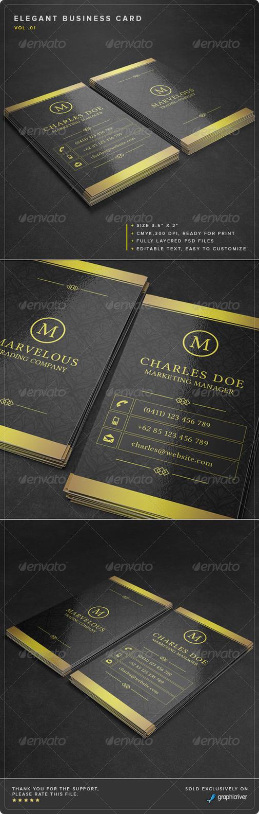 Elegant Business Card by Junaedy-Ponda