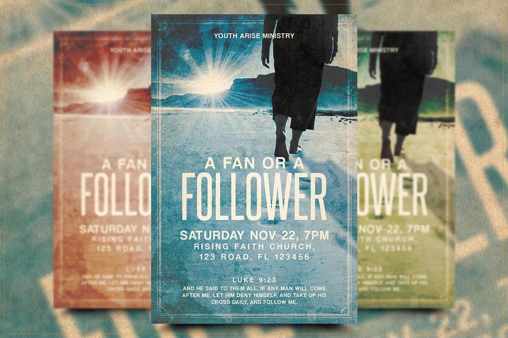 Fan or Follower Church Flyer Template by Junaedy-Ponda