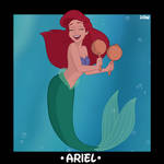 Character Cards - Musical Princess Ariel  by DisneyRebelWorks
