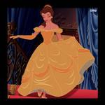 Poll Winner - Belle in Gold by DisneyRebelWorks